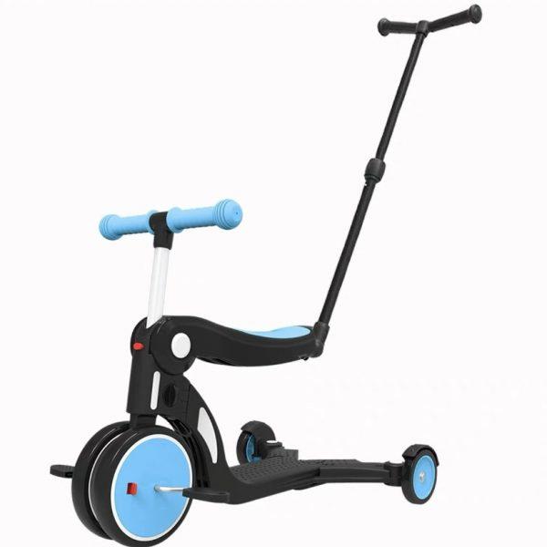 Bebehoo 5 in 1 Kids Scooter With Handle – Blue Tosca