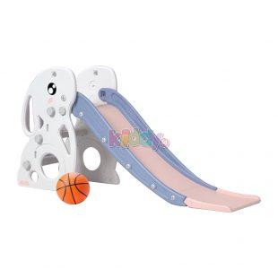 Happy Play Rabbit Slide – White Pink