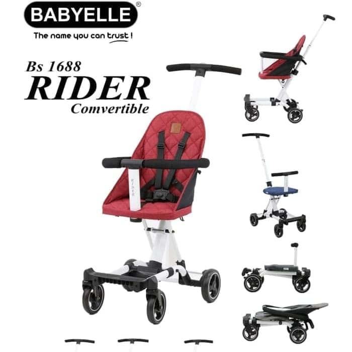 Stroller Babyelle Rider Convertible BS 1688 – Blue