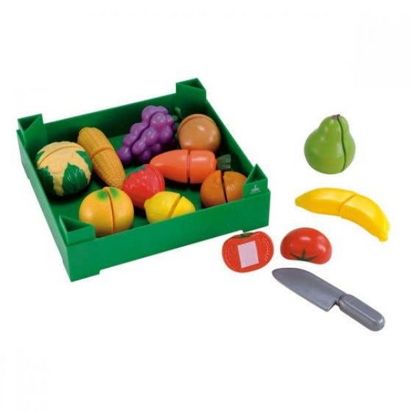 ELC Crate Of Cut-And-Play Fruit and Vegetables (12 pcs + 1 Knife)