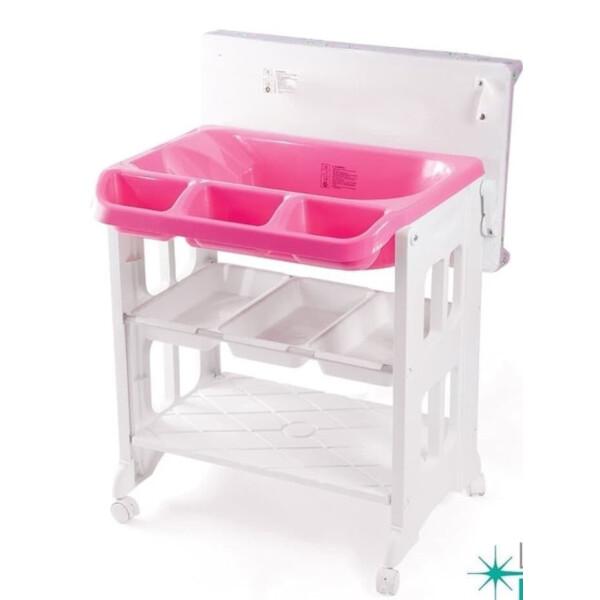Karibu 2in1 Bath & Changing Station (Baby Tafel) – Pink 2