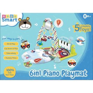 Toys Bebe Smart 6 in 1 Piano Playmat – Bear Blue