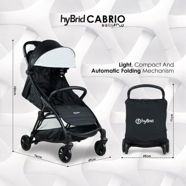 Stroller Baby Style Hybrid Cabrio Ezy Fold – Charcoal