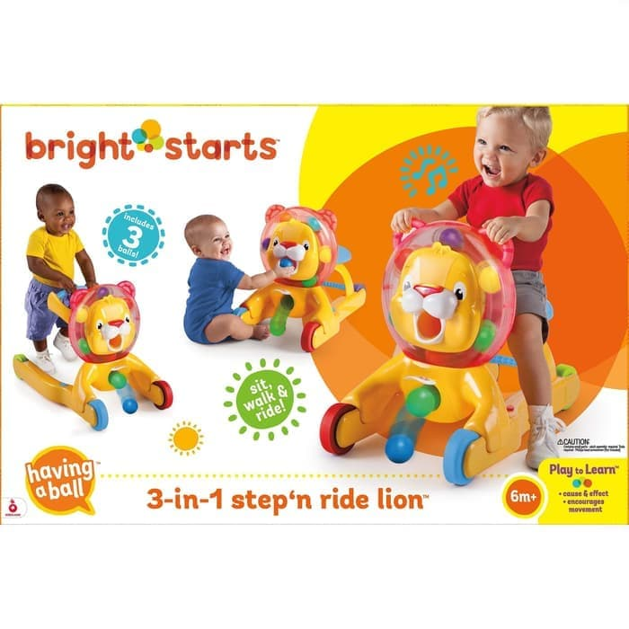 Toys Bright Starts Lion 3in1 Step & Ride