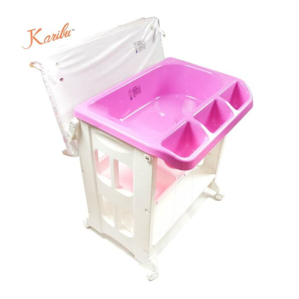Tafel & Bathtub Karibu 2in1 Bath & Changing Station (Baby Tafel) – Pink