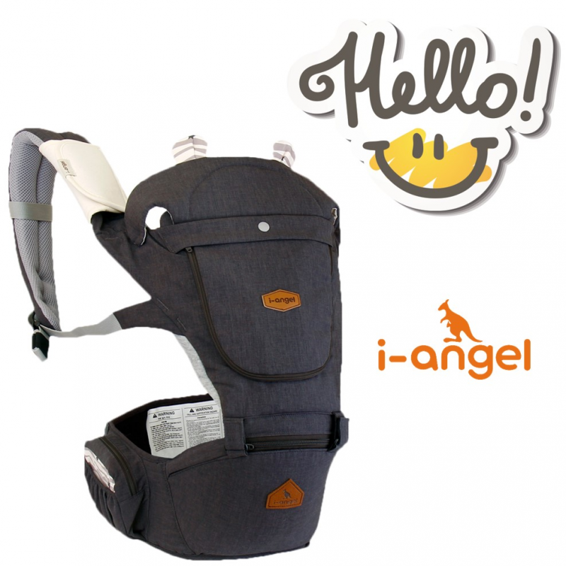 Carrier i-Angel Hello Hipseat Baby Carrier – Charcoal