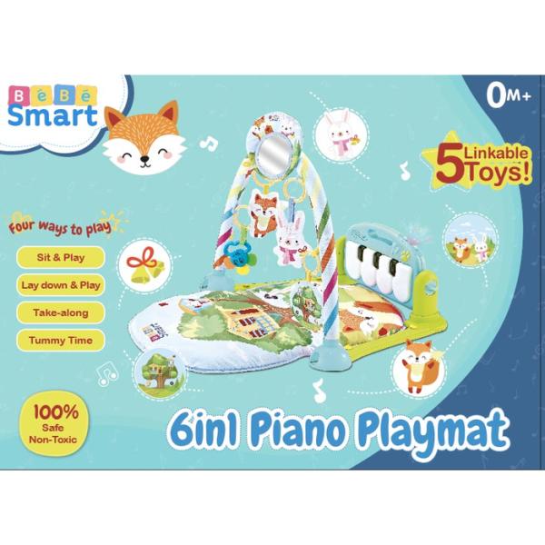 Toys Bebe Smart 6 in 1 Piano Playmat – Fox Green