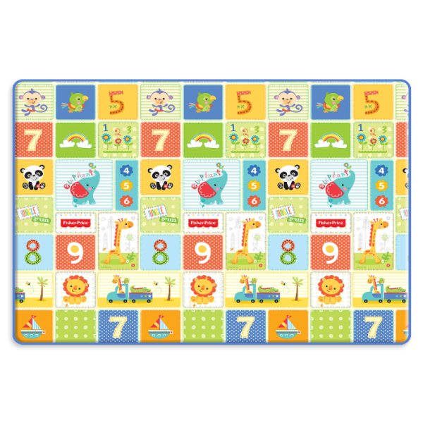 Safety Coby Haus Pure Living PE Playmat Fisher Price 123 – Medium (DISKON – Satu Sisi Ada Yang Bergelembung)