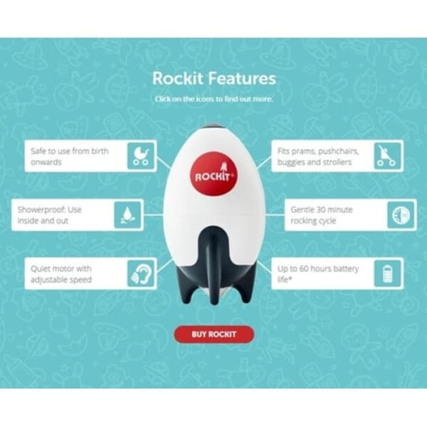 Stroller Rockit Portable Baby Rocker For Strollers
