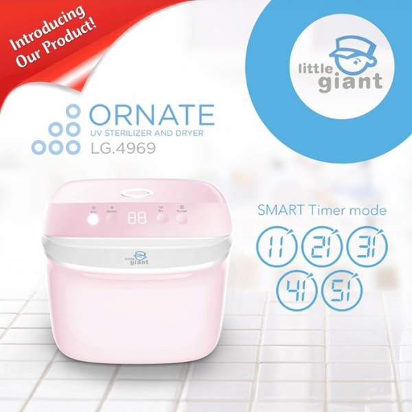 Health Little Giant Ornate Digital UV Sterilizer & Dryer – Pink