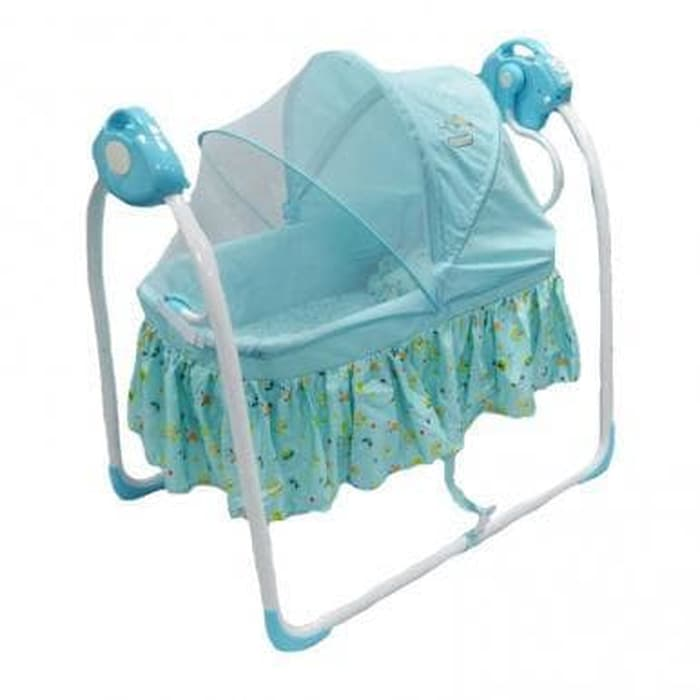 Nursery Babyelle Automatic Cradle Swing Tempat Tidur Bayi – Blue (DISKON – Musik tidak menyala)