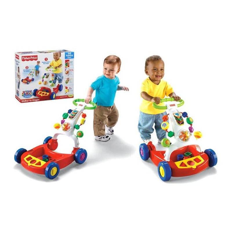 Toys Fisher Price Brilliant Basics Walker-to-Wagon