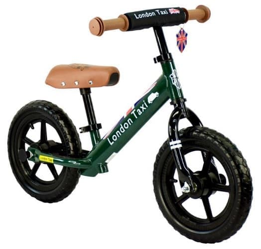 Balance Bike London Taxi Kick Bike – Dark Green