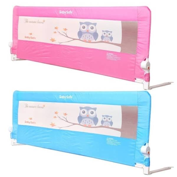 Safety Bed Rail Baby Safe Bed Rail Pengaman Kasur 200cm – Owl Pink