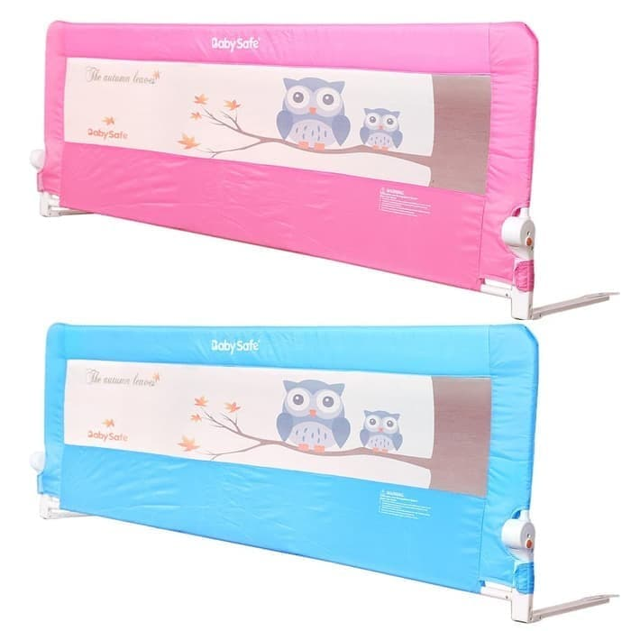 Baby Safe Bed Rail Pengaman Kasur 200cm – Owl Blue