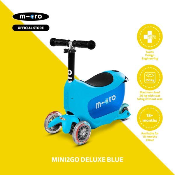 Micro Mini2Go Deluxe Scooter – Red 3