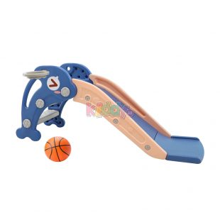 Happy Play Dolphin Small Slide – Blue