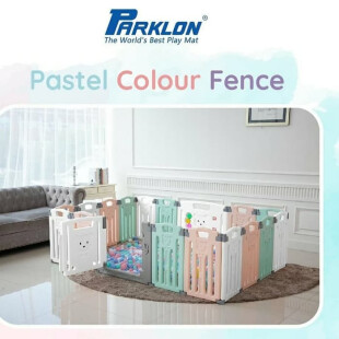 Safety Parklon Folding Fence Pagar Pengaman Bayi 12+2 – Mixed Color