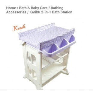 Tafel & Bathtub Karibu 2in1 Bath & Changing Station (Baby Tafel) – Ungu