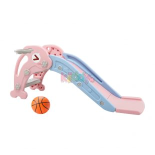 Happy Play Dolphin Small Slide – Pink