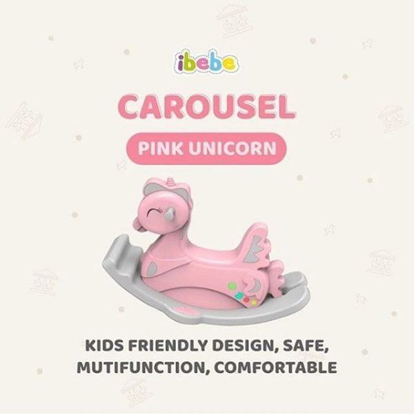 Toys Ibebe Carousel Rocking Horse – Mint