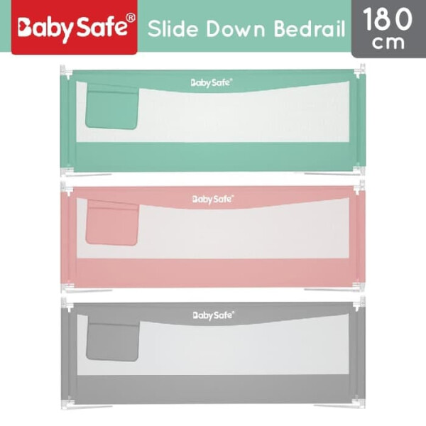 Safety Baby Safe XY002C Slide Down Bed Rail 180cm – Grey