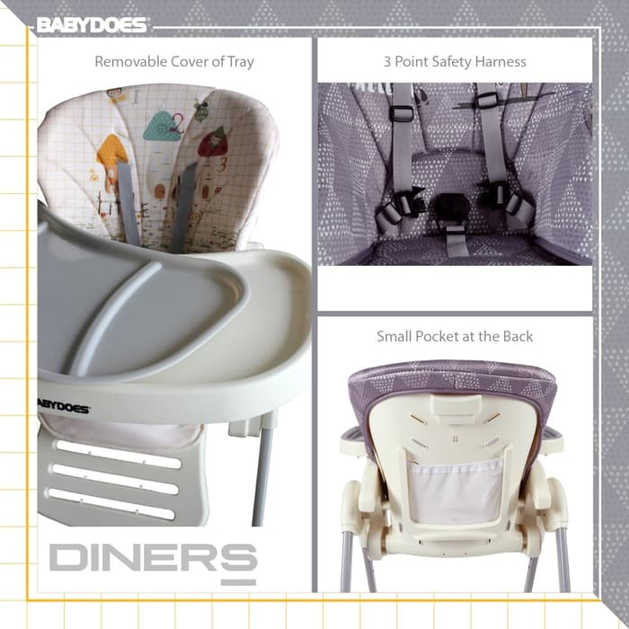 Gear BabyDoes CH-012BP Diners High Chair – Winter Land