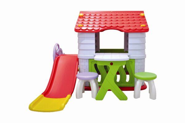 Toys Labeille Dream Playhouse & Slide Luxury Complete Set – Atap Merah