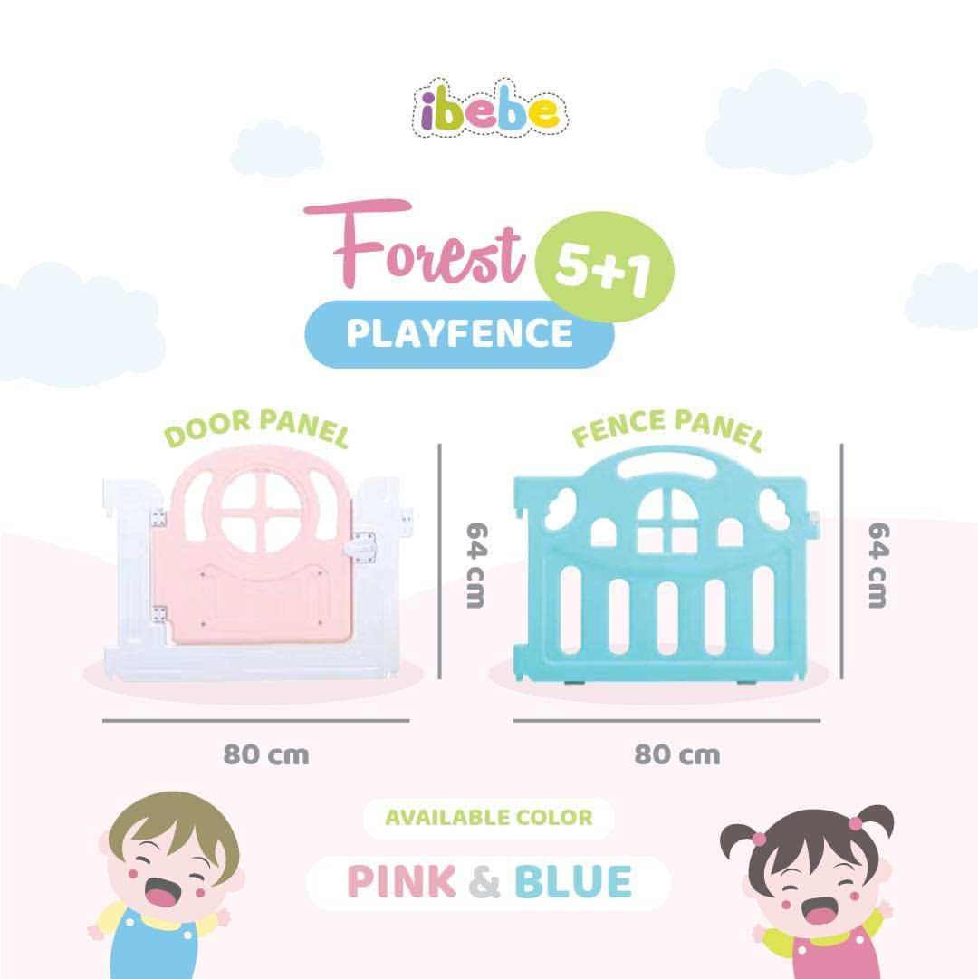 Safety Ibebe Forest Playfence 5+1 – Blue