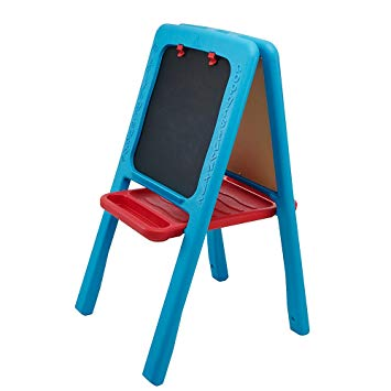 Toys ELC Plastic Double Sided Easel Chalkboard – Blue