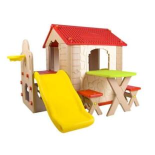 Toys Haenim Fun Park Playhouse & Slide – Cream