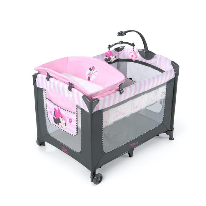 Nursery Bright Starts Disney Minnie Mouse Blushing Bows Baby Box & Playard