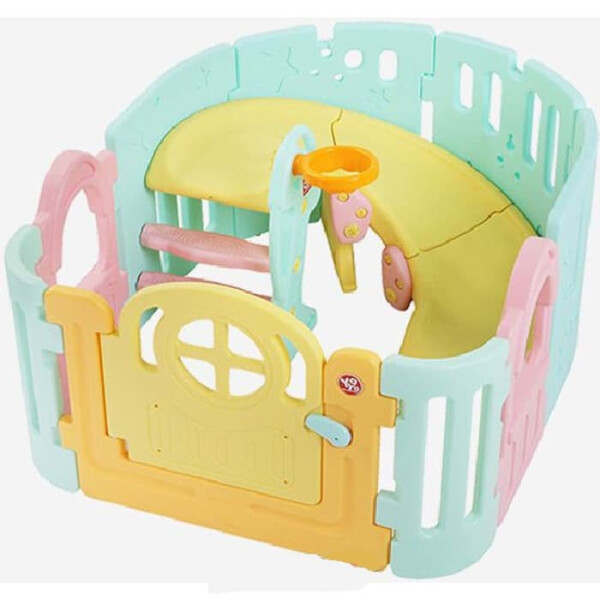 Play Fences Yaya Baby Playpen with Spiral Slide