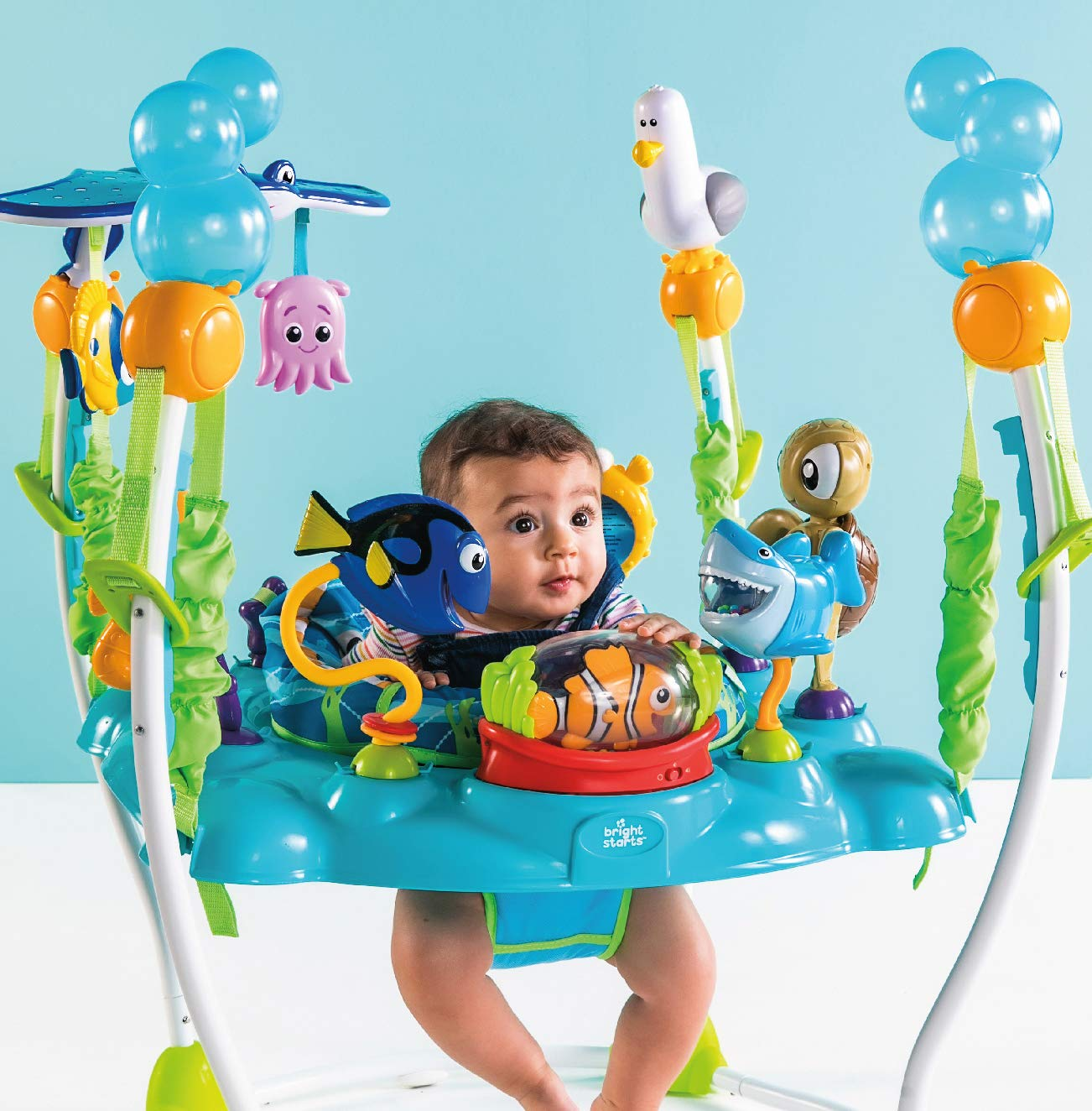 Toys Bright Starts Disney Baby Finding Nemo Oh Sea Activities Jumperoo (DISKON – Tanpa Mainan Gantung Ikan Pari)