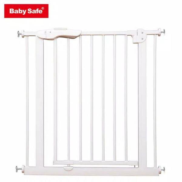 Baby Safe Door & Safety Gate XY009 75-85cm – White / Grey