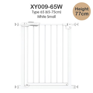 Baby Safe Door & Safety Gate XY009 65-75cm – White Small