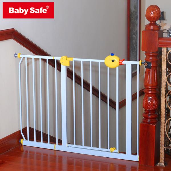 Baby Safe Door & Safety Gate XY009 75-85cm – White / Grey 2
