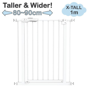 Baby Safe Door & Safety Gate XY009H Extra Tall & Wide 80-90cm