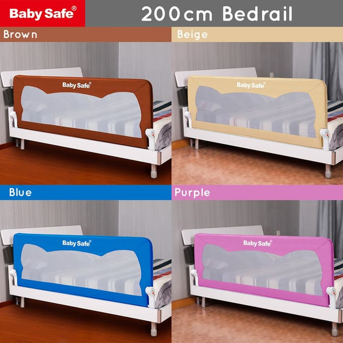 Safety Bed Rail Baby Safe Bed Rail Pengaman Kasur 200cm – Beige