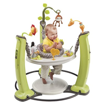 Toys Evenflo Exersaucer Jump and Learn Jumperoo – Jungle Quest Green