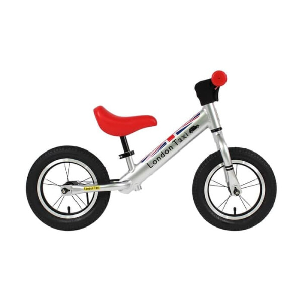 Toys London Taxi Kick Bike PRO – Silver Red
