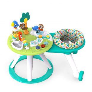 Bright Starts Around We Go 2-in-1 Baby Walker & Activity Table – Green Tosca