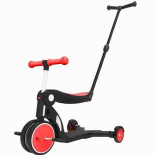 Bebehoo 5 in 1 Kids Scooter With Handle – Red
