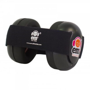 Earmuff EMS 4 Bubs Baby Earmuffs Black Bub – Black