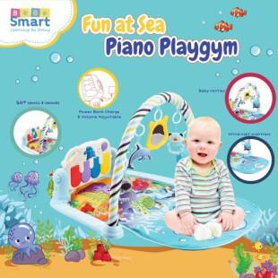 Bebe Smart 6 in 1 Piano Playmat – Fun at Sea Blue