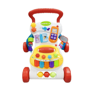 BabyElle Musical Activity Baby Push Walker – Red
