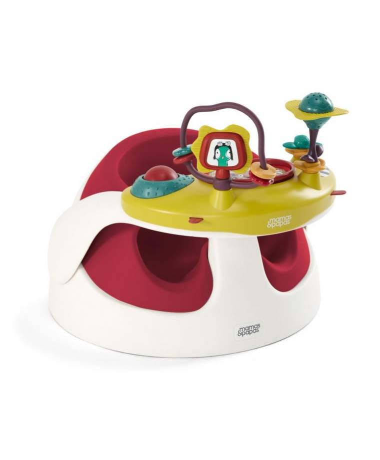 Booster Seat Mamas Papas Baby Snug with Play Tray – Red