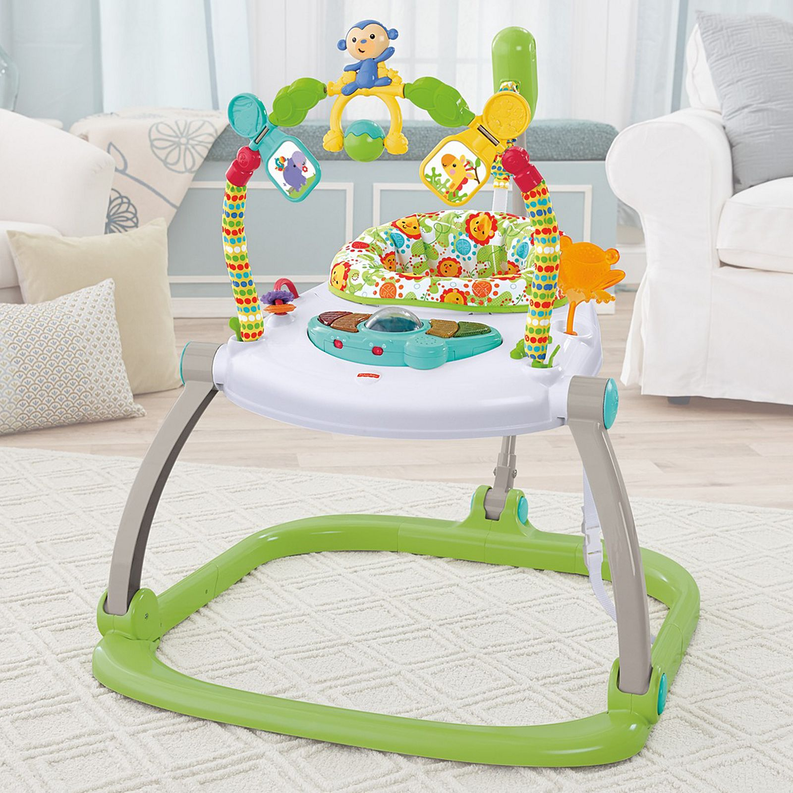 Toys Fisher Price Rainforest Friends Space Saver Jumperoo