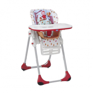 Chicco Polly Easy 2 In 1 High Chair – Happy Land Red