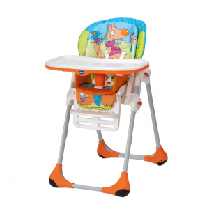 Chicco Polly Easy 2 In 1 High Chair – Wood Friends Orange